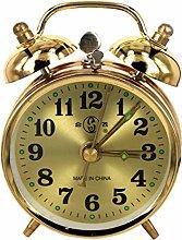 BRYSJ Gold Mechanical Alarm Clock Manual Wind Up