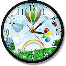 BRYSJ Hot Air Balloons Cartoon Design Wall Clock