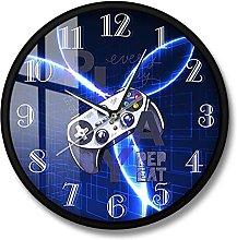 BRYSJ Lightning Gamepad Playroom Wall Clock Game