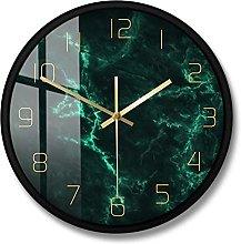 BRYSJ Marble Pattern Nordic Wall Clock Living Room
