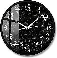 BRYSJ Math Wall Clock Number Modern Clock Wall