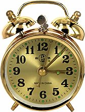 BRYSJ Mechanical Gold Alarm Clock Manual Wind Up