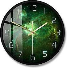 BRYSJ Nebula Celestial Star Print Wall Clock
