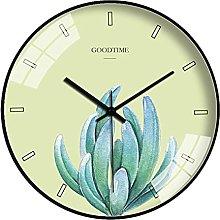 BRYSJ Nordic Modern Wall Clock Plant Large Clocks