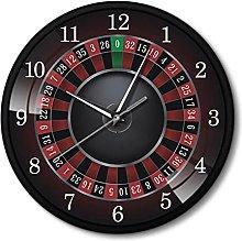 BRYSJ Poker Roulette Wall Clock Las Vegas Game