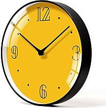 BRYSJ Pure Yellow Wall Clock Creative Frameless