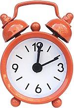BRYSJ Retro Mini Alarm Clock Round Number Double