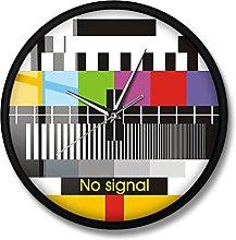 BRYSJ Retro TV Test Wall Clock Adjustment Signal