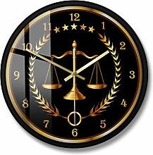 BRYSJ Scale Of Justice Modern Wall Clock Non