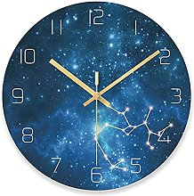 BRYSJ Starry Sky Wall Clock Universe Galaxy Silent
