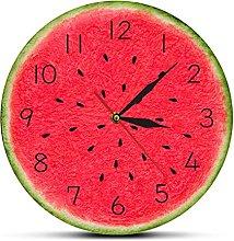 BRYSJ Watermelon Modern Wall Clock With Numbers