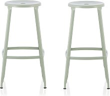 Bryson 66cm Metal Bar Stools In Green In A Pair