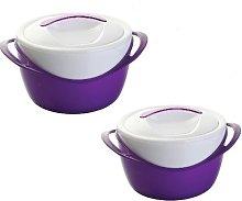 BS 2Pc Insulated Hot Pot Food Warmer Casserole