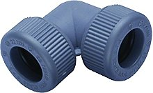 BS7291 Part 1 and 2 Push Fit Elbow, Grey, 15 mm