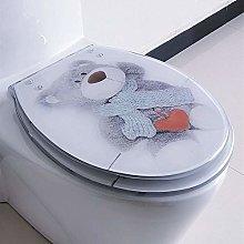 BSQS1 Gray Bear Pattern Toilet Gasket Kit,