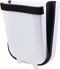 BSRYO Folding Waste Bin, Hanging Trash Can for