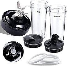 BSSN 16oz Blender Cup with Sip&Seal Lids,5 Fins