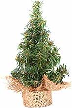 BSTCAR 20cm Mini Pine Tree with Burlap Base, Small