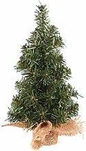 BSTCAR 30cm Mini Pine Tree with Burlap Base, Small