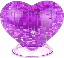 BSTCAR 3D Crystal Puzzles, Clear 3D Puzzles Love