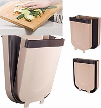 BSTCAR Folding Waste Bin, Kitchen Trash Can Wall