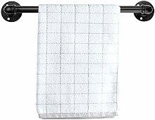 BSTKEY Vintage Industrial Pipe Towel Holder - Wall