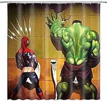 Btcustom1 Hulk Shower Curtain,Superhero Cartoon