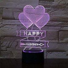 BTEVX Desk Lamp Bedroom Love Balloon Decoration