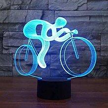 BTEVX Night Lights 3D 7 Color Changing Visual