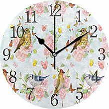 BTJKDFD Wall Clock Vintage Seamless Texture with