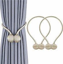 BTkviseQat Magnetic Curtain Tiebacks,Curtain Rope