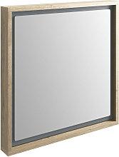 BTL Senzo 600mm Mirror Natural Halifax Oak/Matt