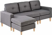BTM L Sectional Sofa Couch, 3 Seater Sofa, Living