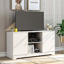 BTM Simple Style TV Unit, Wood TV Stand Cabinet,