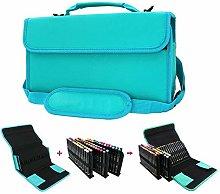 BU-SOH Markers 84 Slots Marker Pen Case Portable