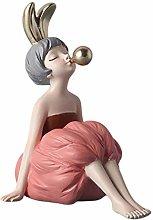 Bubble Girl Sculpture, Girl Sculpture, Resin