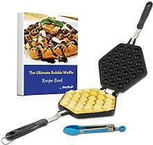 Bubble Waffle Maker Pan by StarBlue with Free