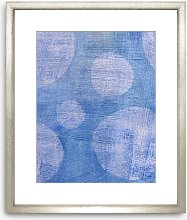 Bubbles Abstract Wood Framed Print & Mount, 73 x