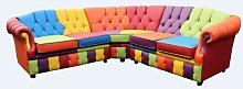 Bucareli Chesterfield Leather Corner Sofa Ebern