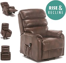 Buckingham Rise Rec Brown Leather Recliner