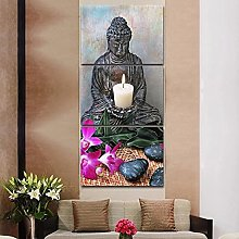 Buddha 3 Piece Wall Art Framed Painting The