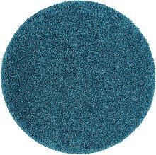 Buddy Plain Circle Cut Pile Rug - 100x100cm - Teal