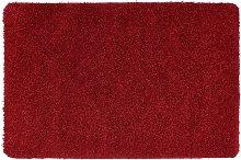 Buddy Plain Shaggy Mat  Rug - 100x60cm - Red