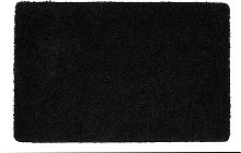 Buddy Plain Shaggy Mat  Rug - 120x80cm - Black.