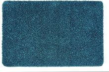 Buddy Plain Shaggy Mat  Rug - 150x100cm - Teal.