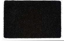 Buddy Plain Shaggy Mat  Rug - 150x67cm - Black.