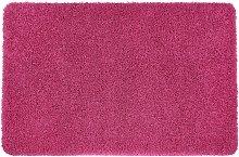 Buddy Plain Shaggy Mat  Rug - 150x67cm - Pink.