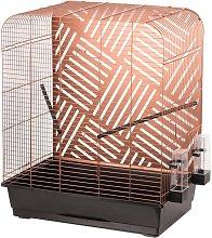 Budgie Cage Mona 50x34x65 cm Copper - Multicolour