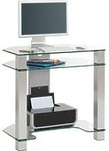Budino Glass Corner Desk