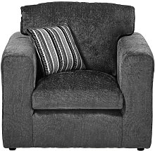 Budron Armchair ClassicLiving Upholstery: Dark Grey
